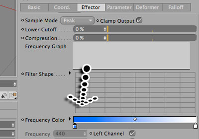 Mograph/Sound Effector in Cinema 4D Tutorial - Picture 11