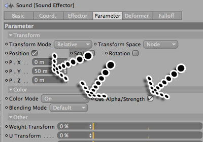 Mograph/Sound Effector in Cinema 4D Tutorial - Picture 12