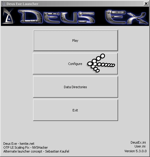 Deus Ex Configure Button