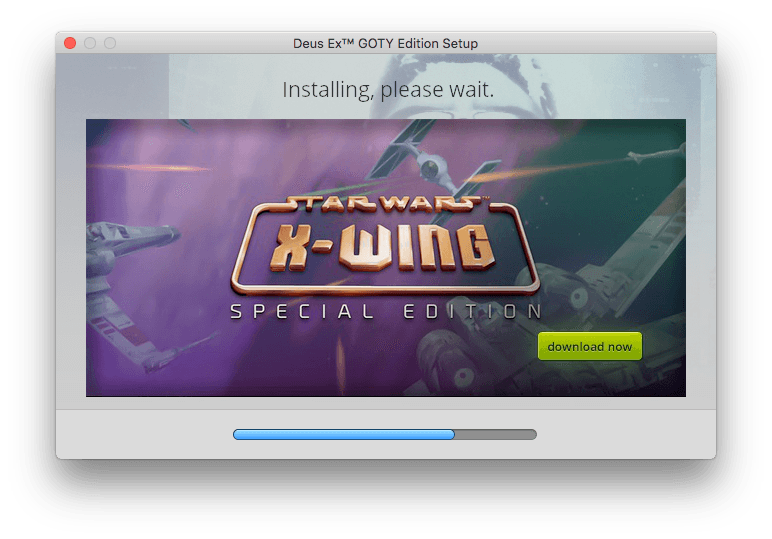 Install GOG Install Screeh